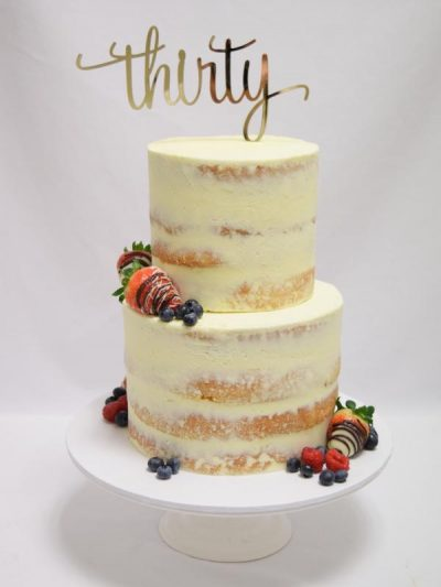 2 tiered Semi Naked Cake
