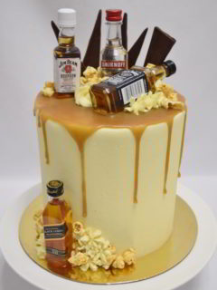 Alcohol Bottles on cake wodonga