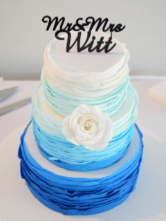 Blue Ombre wedding cake wodonga