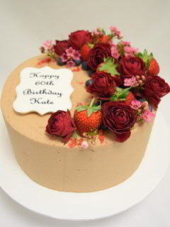 Chocolate buttercream and berries