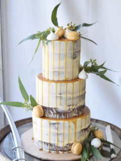 Semi Naked wedding cake Wodonga