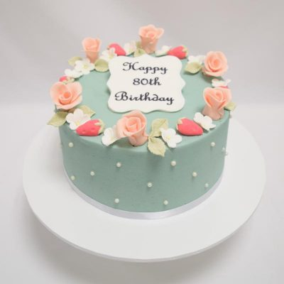 Vintage flower ladies cake